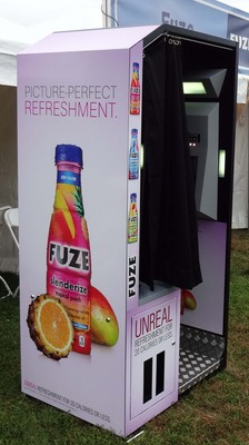 Fuze wrapped classic photo booth at Life is Good Festival.